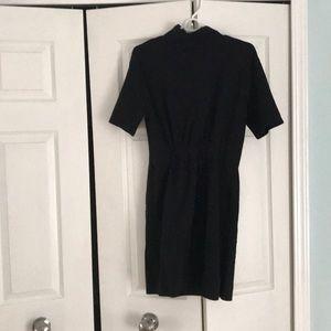 Zara Black Mock Neck Dress